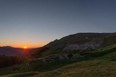 Sunset in Val d'Ozola - Ligonchio, Reggio Emilia, Italy - June 30, 2018