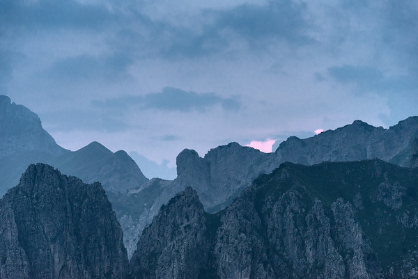 Grigne in Evening twilight - Mandello del Lario, Lecco, Italy - August 5, 2018