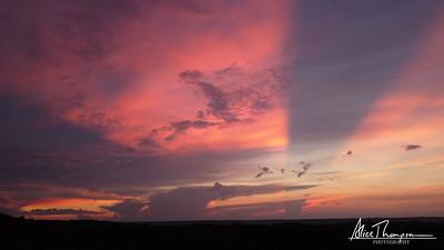 Cloud break in the sunset