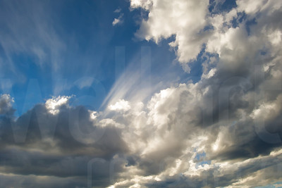 Sun Rays Through Clouds | Wall Art Resource