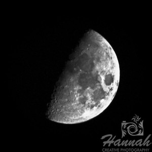 First Quarter Moon Taken July 18, 2010 at 11:03PM   © Copyright Hannah Pastrana Prieto