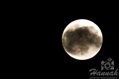 The Super Moon of May 2012 ... this shot partly covered with clouds  © Copyright Hannah Pastrana Prieto