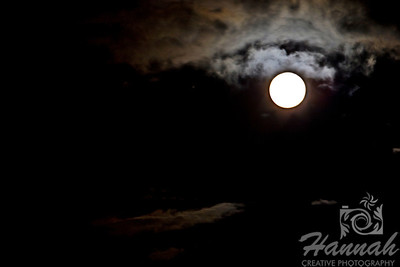 The Super Moon of May 2012 ... as seen from Oregon, U.S.A. ... 14% bigger and 30% brighter than normal full moons  © Copyright Hannah Pastrana Prieto