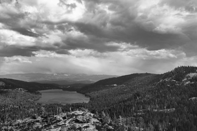Summer storm, Donner Lake.