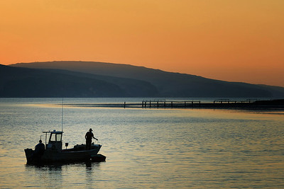 Day's end, Marshall, Tomales Bay