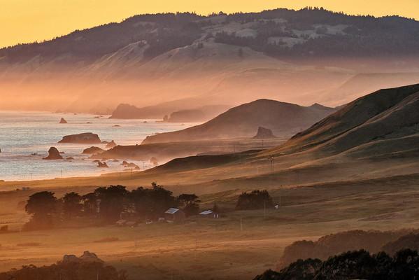 Misty coast.