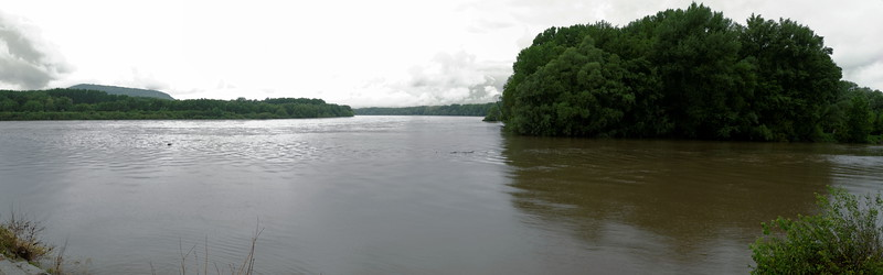 River March from right entering Danube