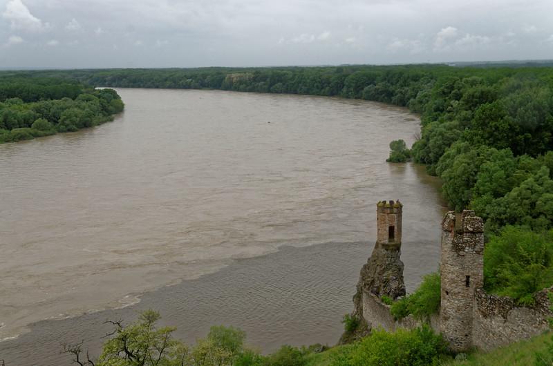 Devin castle where river March enters Danube (right)