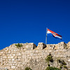 Croatian Flag Over Hvar