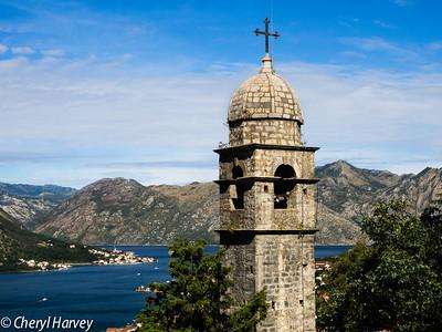 Monastery Tower over Kotor Bay