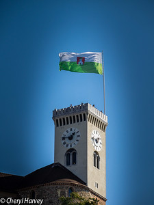 Ljublijana's Flag Over Its Castle