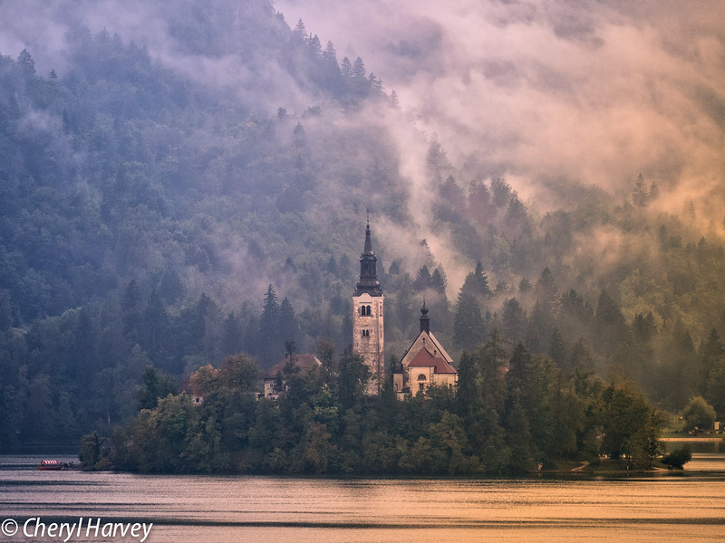 Bled Island in the Mist