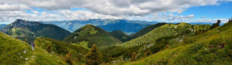 Looking north to Triglav from Kobla range