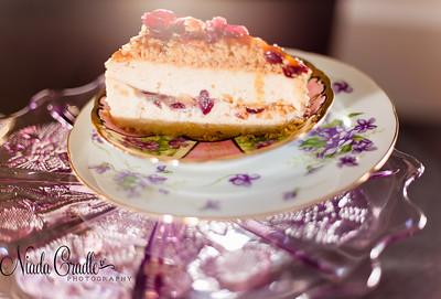 Cranbery Caramel Pear Cheesecake