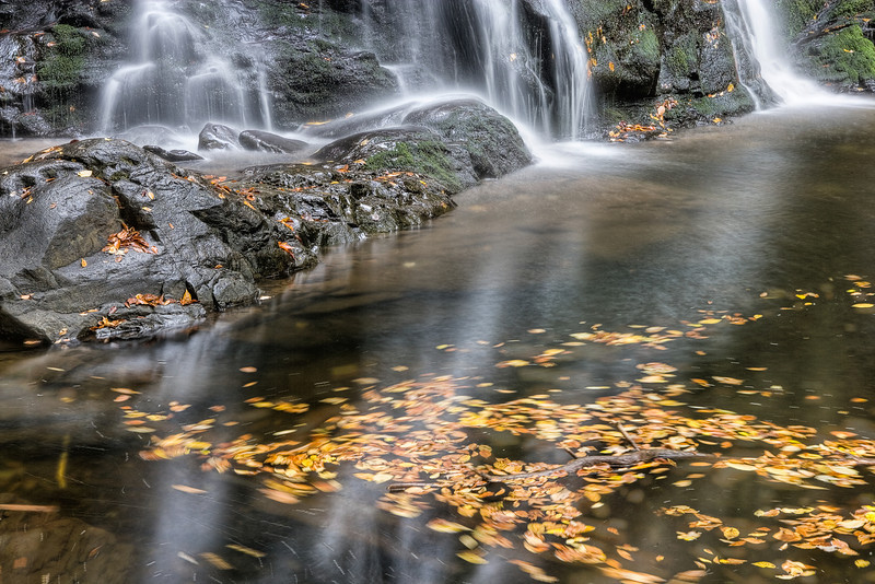 """Spruce Flat Falls The lower portion of Spruce Flat Falls in autumn ... Great Smoky Mountains National Park. Lots more <a style=""""color: #aaccee"""" href=""""http://williambritten.com/"""">Smoky Mountains Photos</a> and info over on my blog."""