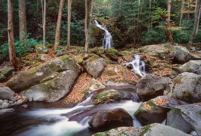 """Mouse Creek Falls Great Smoky Mountains National Park. Lots more <a style=""""color: #aaccee"""" href=""""http://williambritten.com/"""">Smoky Mountains Photos</a> and info over on my blog."""