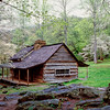 "Bud Ogle's Cabin An early settlers cabin along the Roaring Fork Motor Trail in the Great Smoky Mountains National Park. Lots more <a style=""color: #aaccee"" href=""http://williambritten.com/"">Smoky Mountains Photos</a> and info over on my blog."