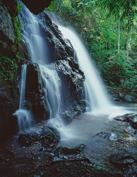 """Spruce Flat Falls Lots more <a style=""""color: #aaccee"""" href=""""http://williambritten.com/"""">Smoky Mountains Photos</a> and info over on my blog."""