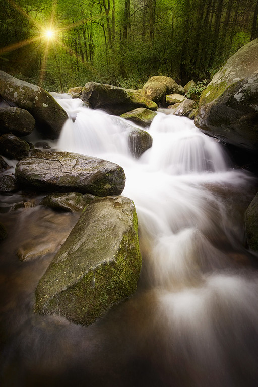 Deep Peace Moody long exposure taken along the Roaring Fork in the Smoky Mountains. Lots more Smoky Mountains Photos and info over on my blog.
