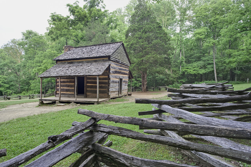 """John Oliver Cabin in Cades Cove Lots more <a style=""""color: #aaccee"""" href=""""http://williambritten.com/"""">Smoky Mountains Photos</a> and info over on my blog."""
