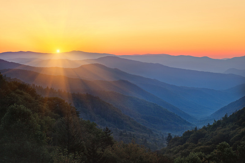 Morning Majesty.  Smoky Mountains sunrise near Newfound Gap. Lots more Smoky Mountains Photos and info over on my blog.