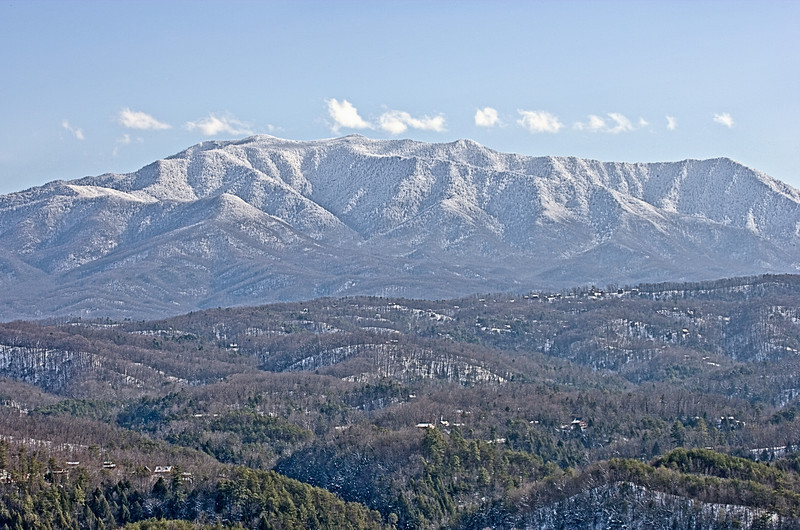"""Snowcap on Mt. LeConte Telephoto view of Mt. LeConte in winter in the Great Smoky Mountains. Lots more <a style=""""color: #aaccee"""" href=""""http://williambritten.com/"""">Smoky Mountains Photos</a> and info over on my blog."""