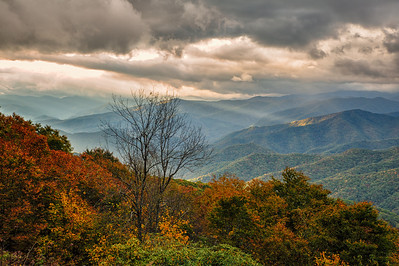 Cloudy Mountain Sunset