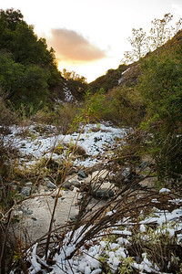 An unusual snowfall in Silverado Canyon