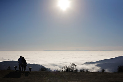 """Fog bank from """"Top of the World"""""""