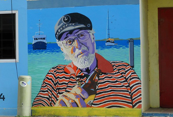 "mural by Henk Roozendaal  ""Bonaire is to conservation as Greenwich is to time."" ~ Capt. Don Stewart, stories guaranteed 85% true."