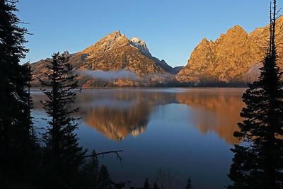 Jenny Lake sunrise    Grand Teton NP