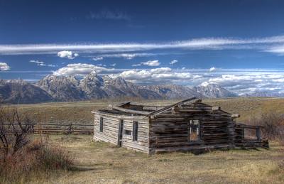 Ranchers cabin, Grosse Ventre Rd. GTNP