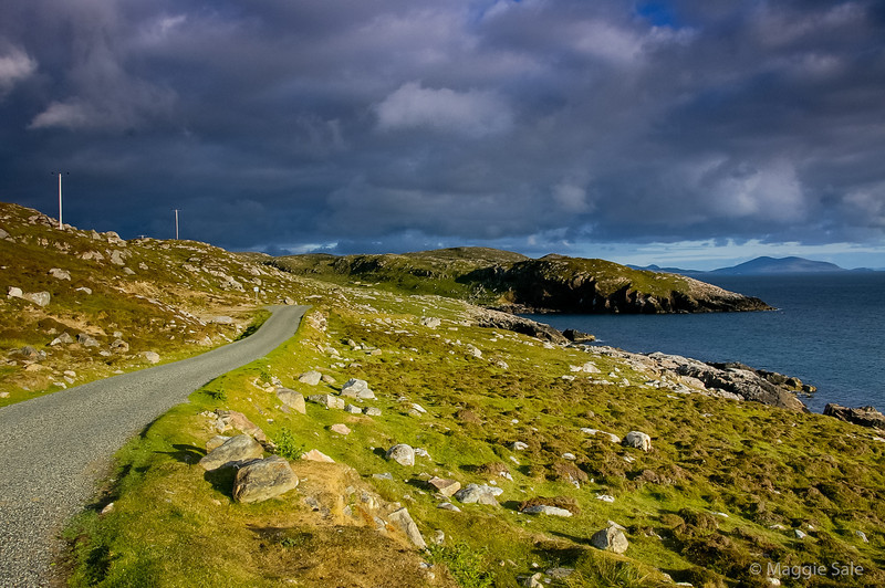 Road to Huisinish, Harris, Scotland