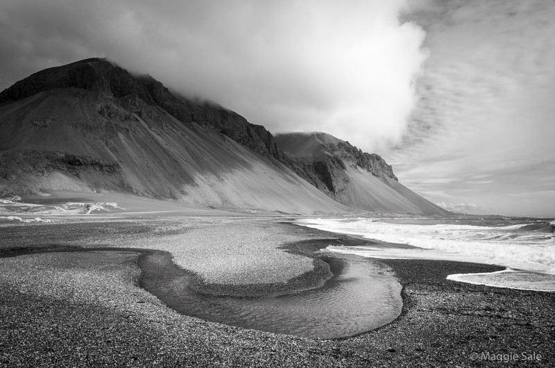 Beach near Hvalnes, Iceland