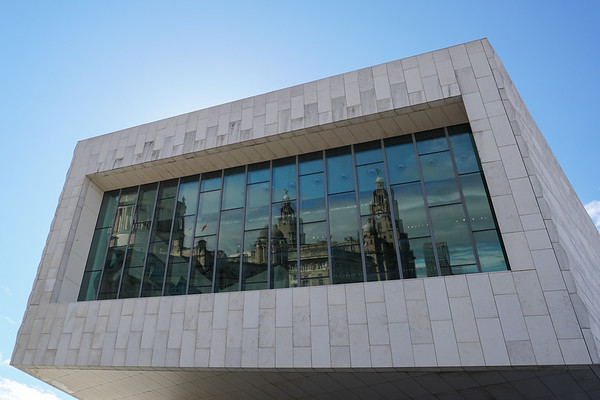 Liver Building reflection, Museum of Liverpool