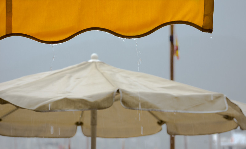 Rain on sunshades