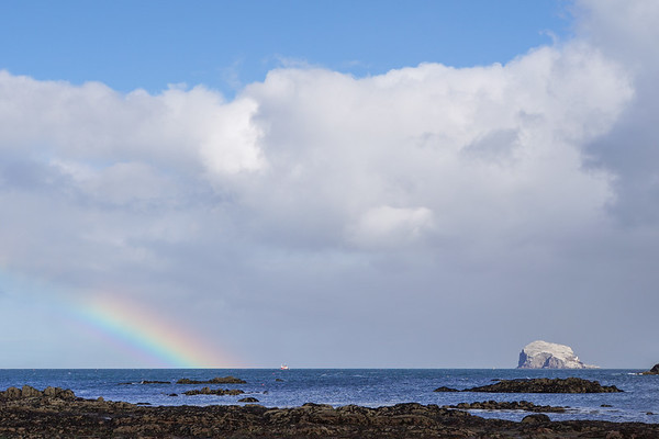 Rainbow at Bass Rock