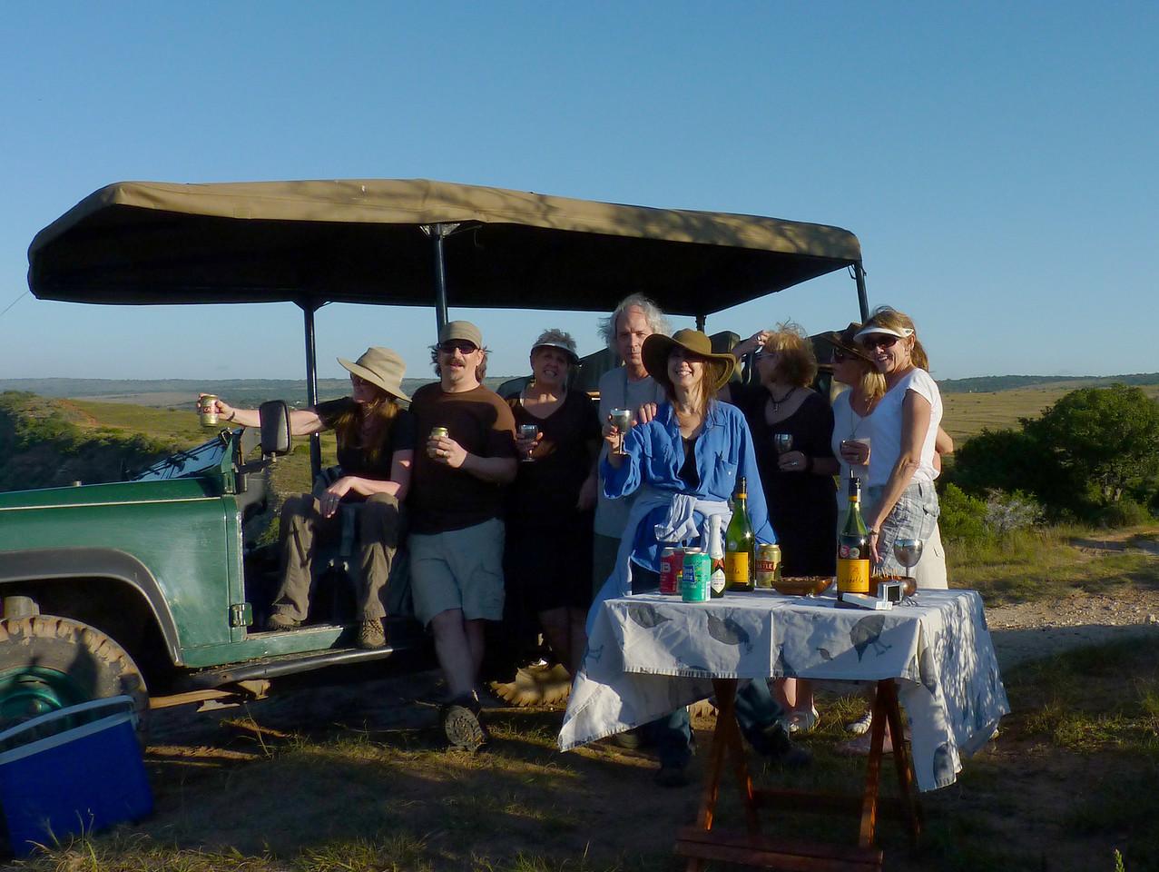 Life is good. The safari gang.