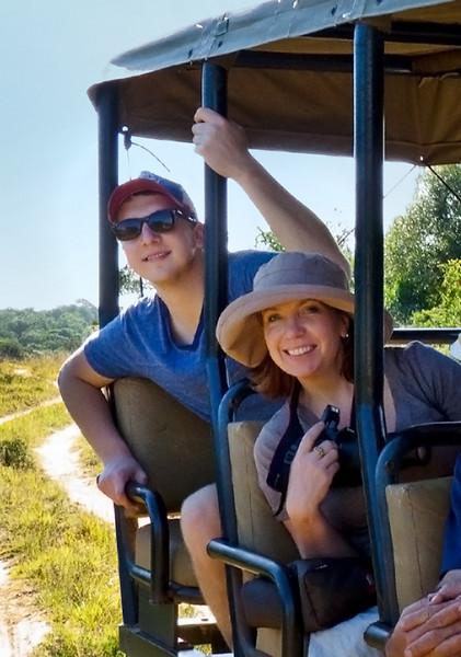 Joel and Christa begin the safari