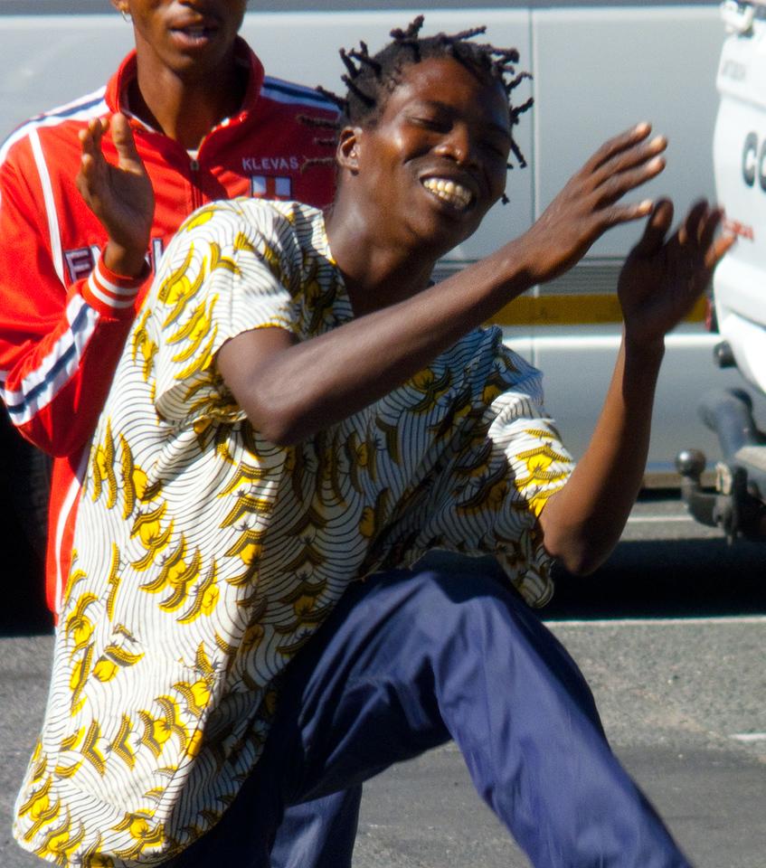 African street dancers in Simonstown