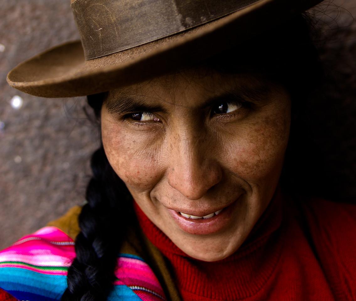 A Quechua woman in Cuzco, Peru.