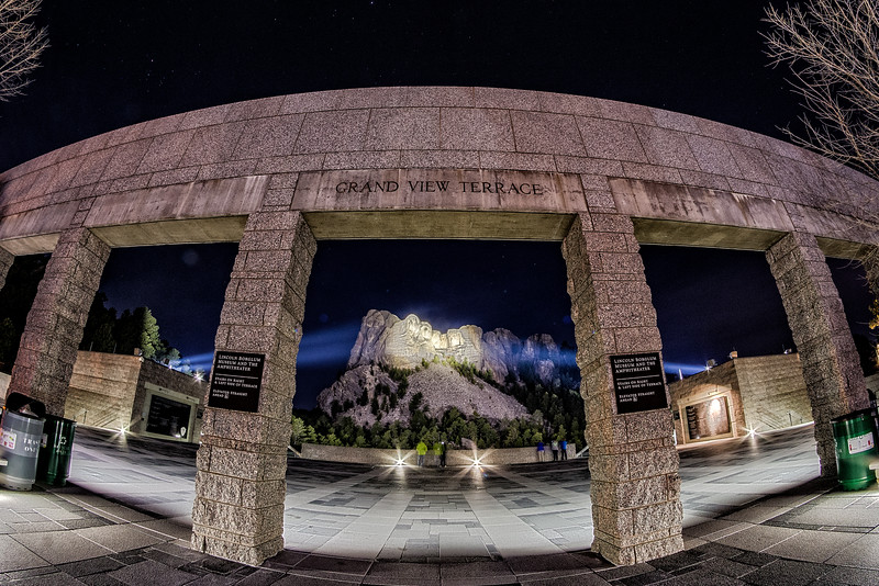 An Unconventional View of Mount Rushmore