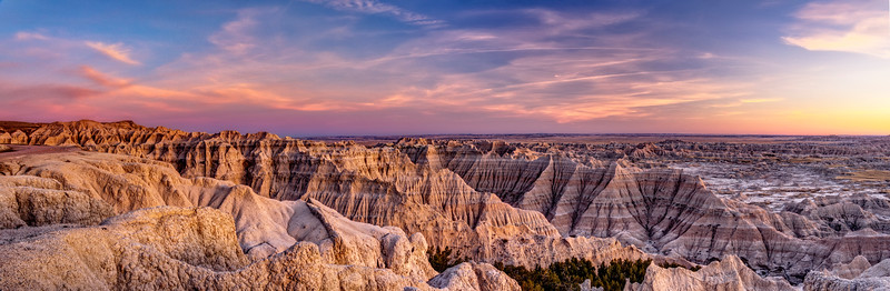 Sunset in the Badlands National Park