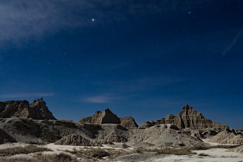 Night time in the Badlands National Park
