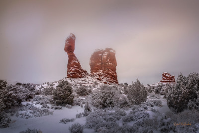 Winter Contrast-Arches National Park