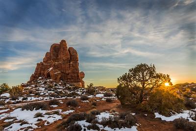 Sunset on Balance Rock