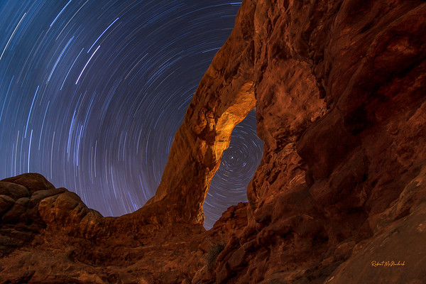 Star Trails-South Window-Arches National Park