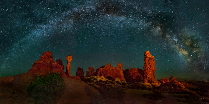 Midnight in the Garden - Arches National Park