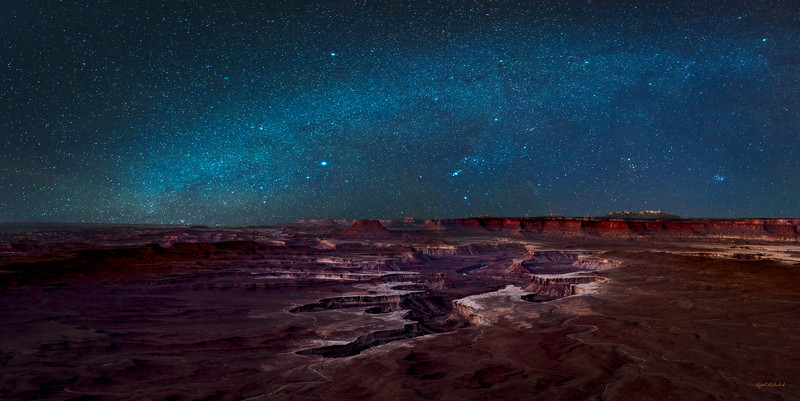 Green River Overlook -Winter Stars