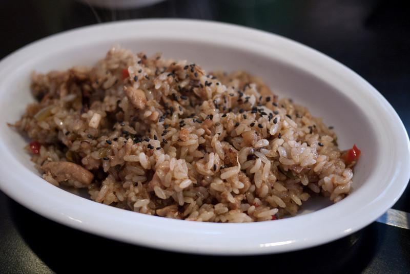 Fried rice dish from Sakusaku Chicken in Songtan.